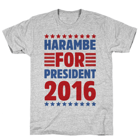 Harambe For President 2016 Mens T-Shirt