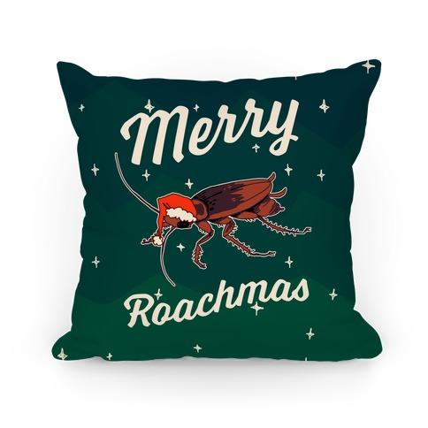 Merry Roachmas Pillow