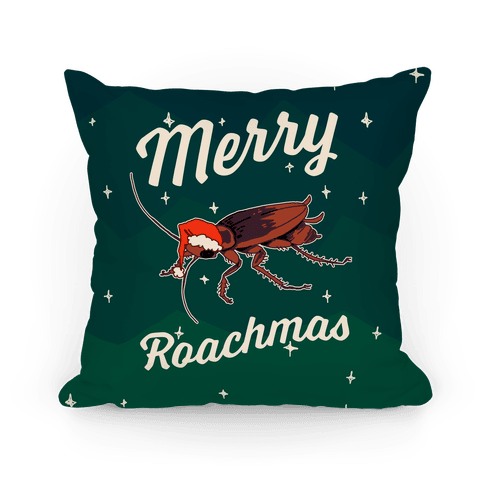 Merry Roachmas Pillow