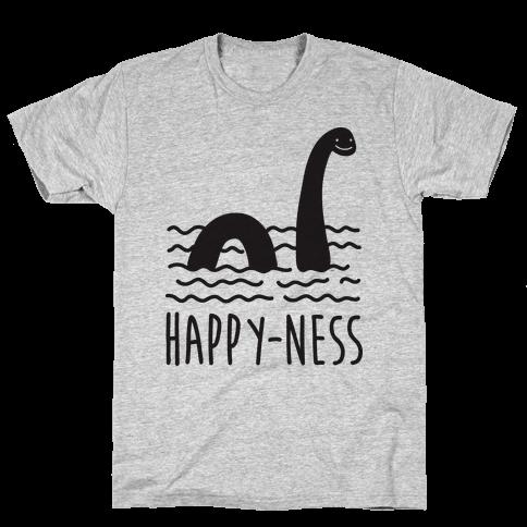 Happy-Ness Loch Ness Monster Mens T-Shirt