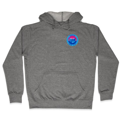 Bisexual Book Club Patch Version 2 Hooded Sweatshirt
