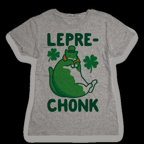 LepreCHONK Cat Womens T-Shirt
