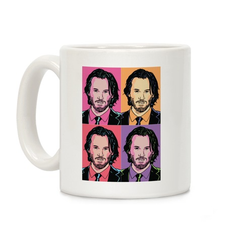 Keanu Pop Art Portrait Coffee Mug