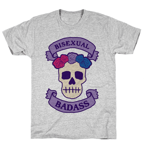 Bisexual Badass Mens T-Shirt