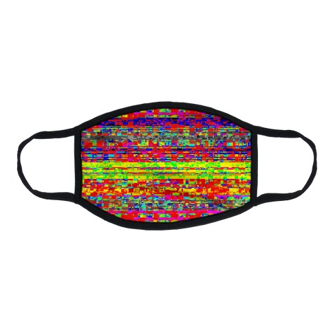 Glitch pattern Flat Face Mask