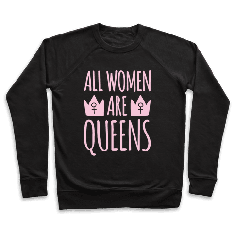 All Women Are Queens White Print