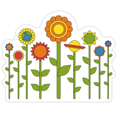 Plant Planets Die Cut Sticker