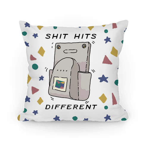 Shit Hits Different (Rumble Pack) Pillow