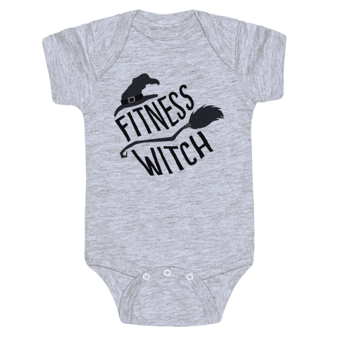 Fitness Witch Baby Onesy