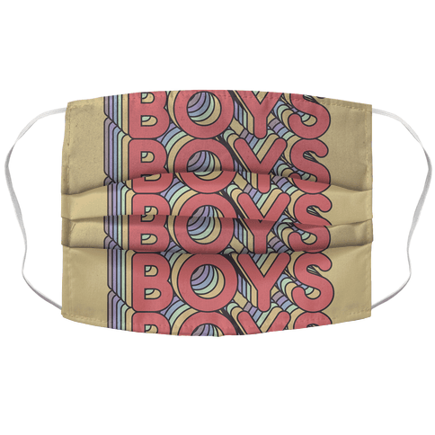 Boys Retro Rainbow Face Mask Cover