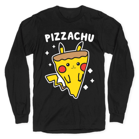 Pizzachu Parody Long Sleeve T-Shirt