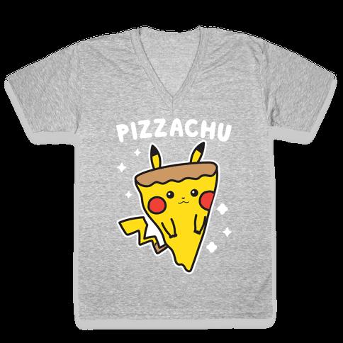 Pizzachu Parody V-Neck Tee Shirt