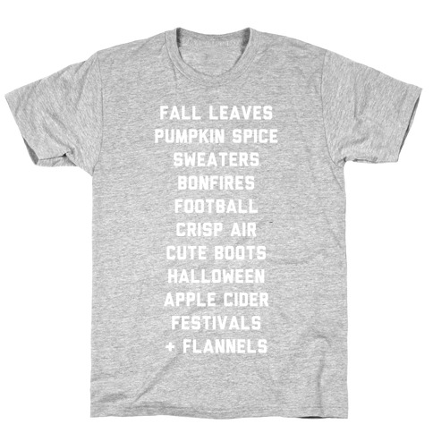 Fall Bucket List Mens T-Shirt