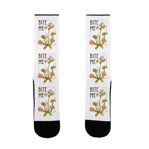 Bite Me Venus Flytrap Sock