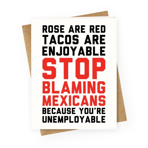 Rose are Red Tacos Are Enjoyable Greeting Card
