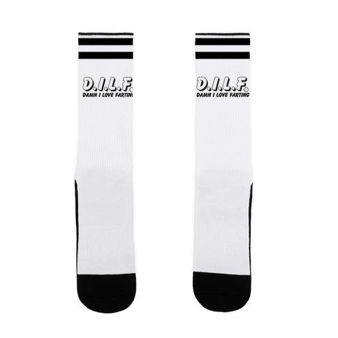 D.I.L.F. Damn I Love Farting Sock