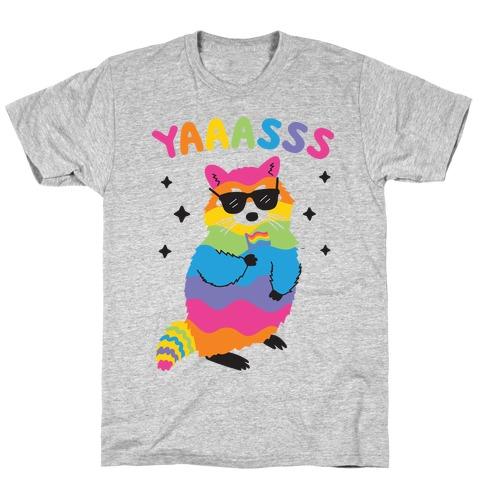 Yas Rainbow Raccoon T-Shirt