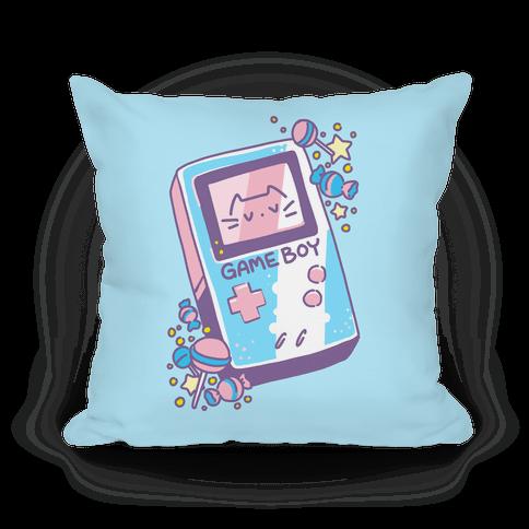 Game Boy - Trans Pride Pillow