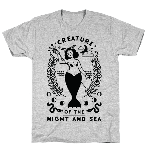 Creature of the Night and Sea Mens T-Shirt