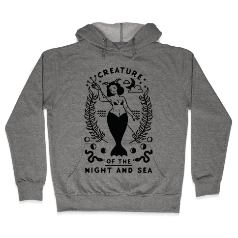 Creature of the Night and Sea Hooded Sweatshirt