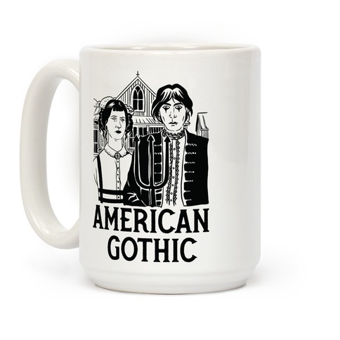American Gothic Mall Goths Coffee Mug