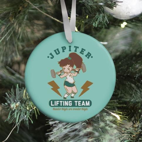 Jupiter Lifting Team Workout Parody Ornament