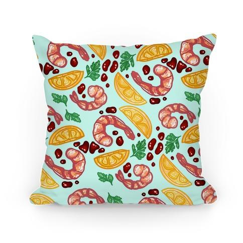 Shrimp Cocktail Pattern Pillow