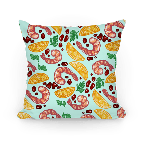 Shrimp Cocktail Pattern Pillow