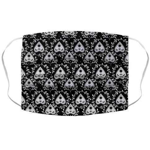 Planchette Pattern Black Accordion Face Mask