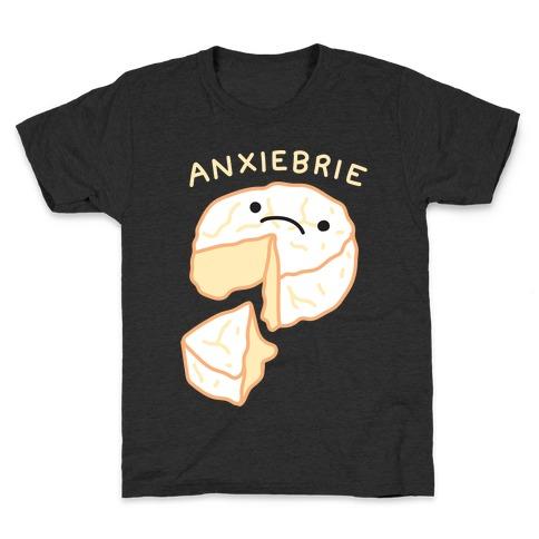 Anxie-brie Anxious Cheese Kids T-Shirt
