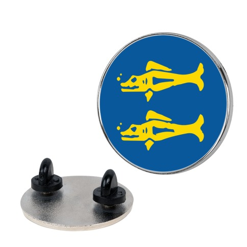 Blue Barracudas Pin