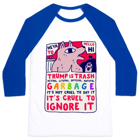 Trump Is Trash Comic Baseball Tee