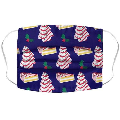 Holiday Tree Cake Pattern Accordion Face Mask