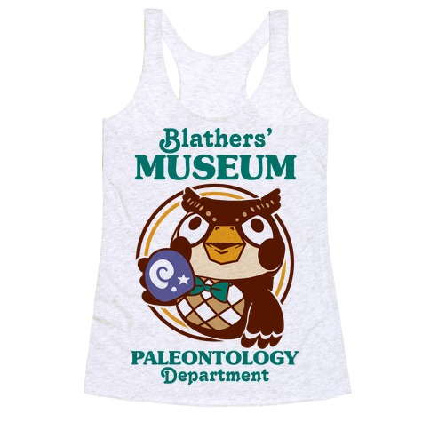 Blathers' Museum Paleontology Department Racerback Tank Top