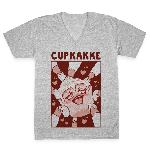 Cupkakke V-Neck Tee Shirt