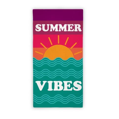 Summer Vibes (Towel) Beach Towel