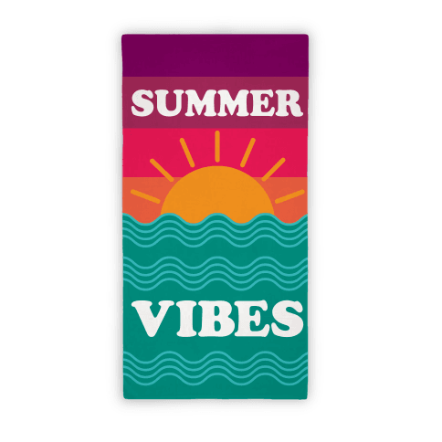 Summer Vibes (Towel) Beach Towel