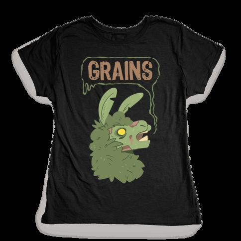 Zombie Llama Womens T-Shirt