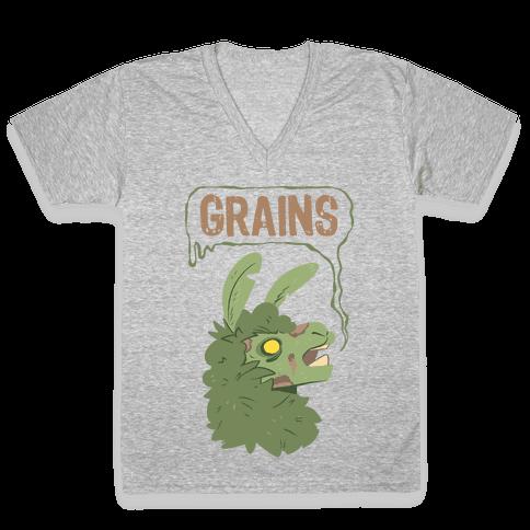 Zombie Llama V-Neck Tee Shirt