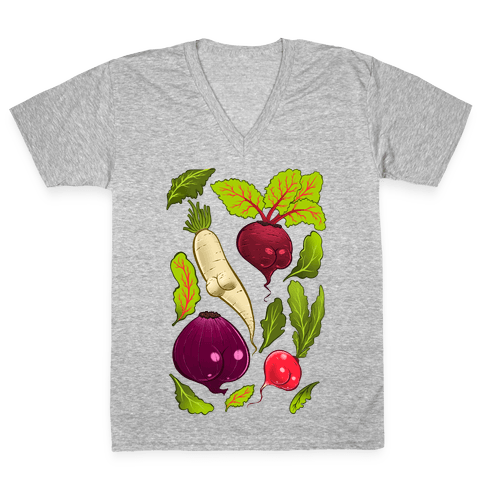 Root Butts V-Neck Tee Shirt