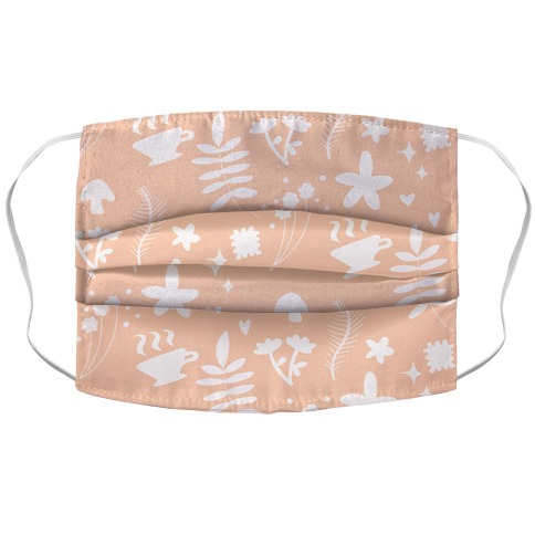 Dainty Cottage Pattern Accordion Face Mask