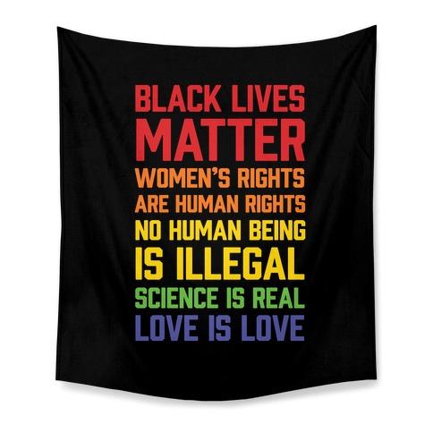 Black Lives Matter List Tapestry