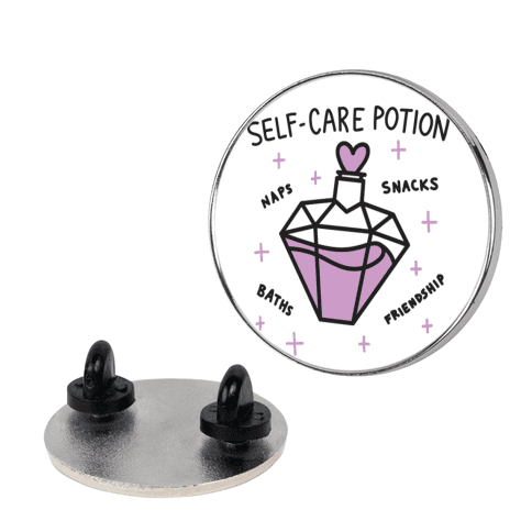 Self-Care Potion pin