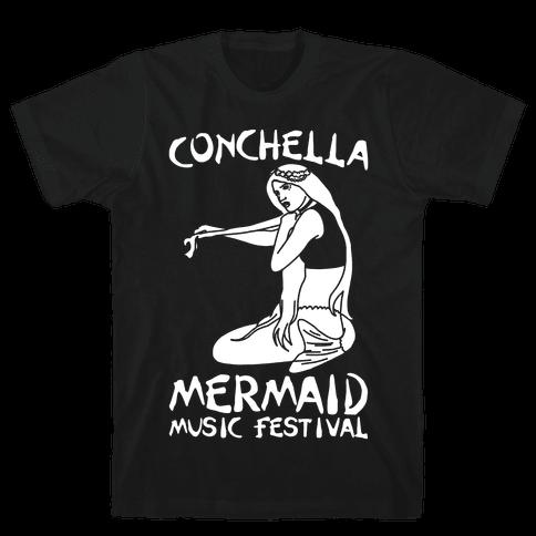 Conchella Parody White Print Mens T-Shirt