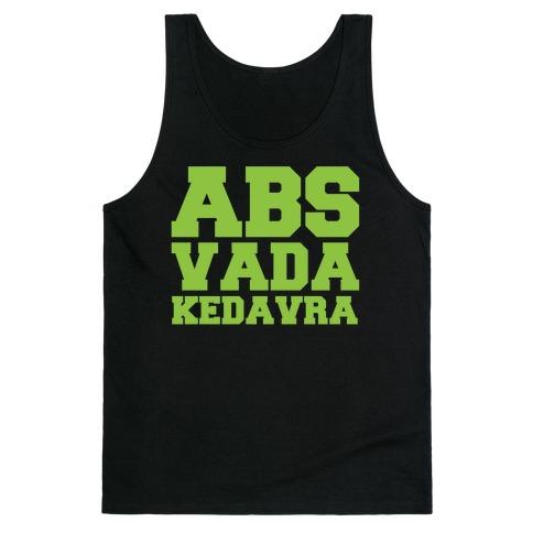 Abs Vada Kedavra Parody White Print Tank Top