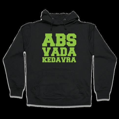 Abs Vada Kedavra Parody White Print Hooded Sweatshirt