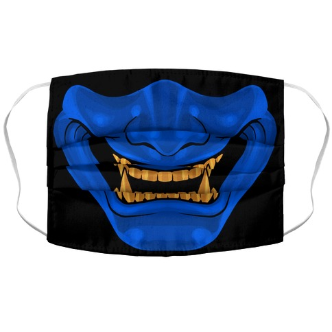Blue Demon Mask Accordion Face Mask