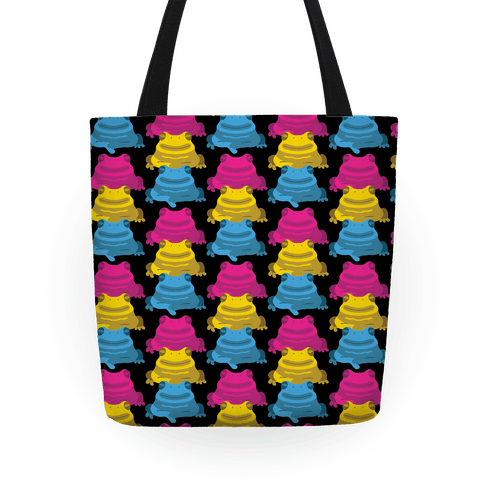Pansexual Froggie Pattern Tote
