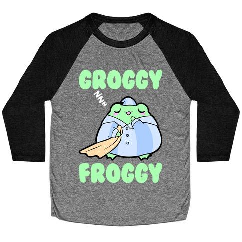 Groggy Froggy Baseball Tee
