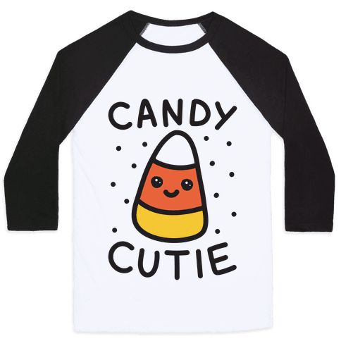 Candy Cutie Candy Corn Baseball Tee
